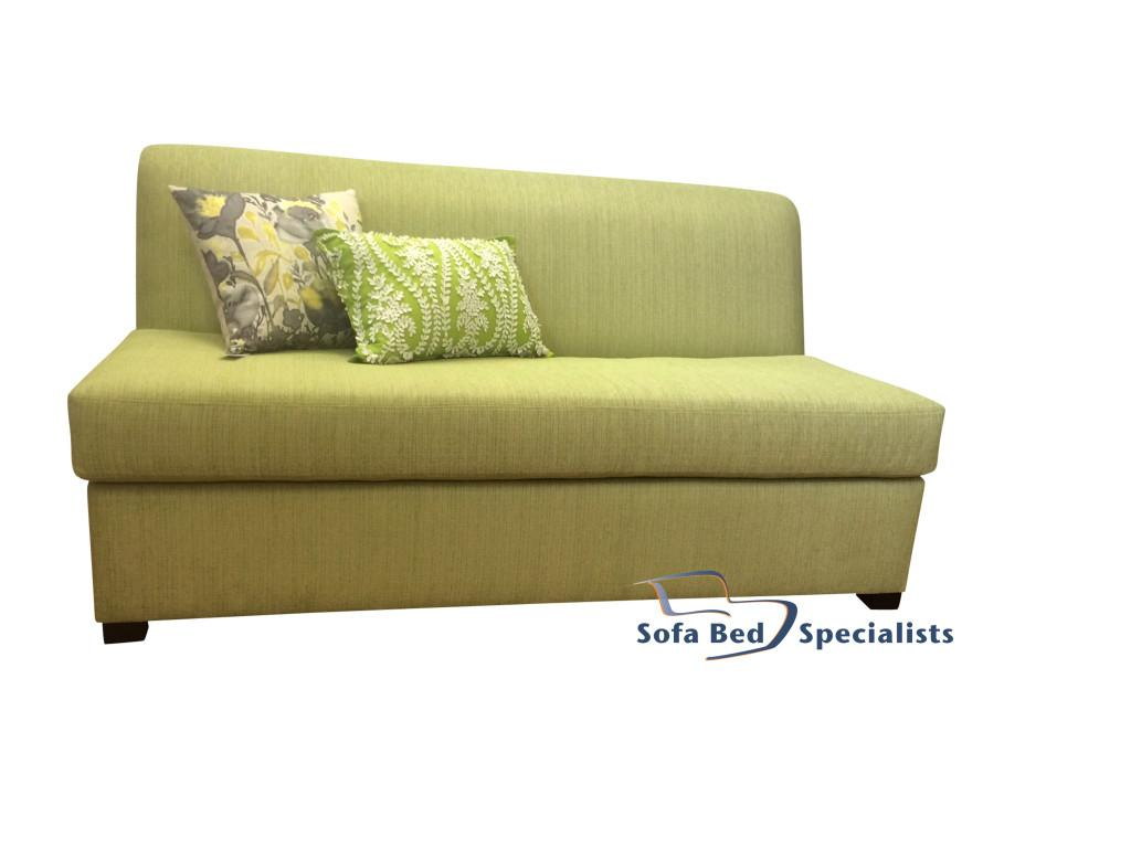 Armless sofabed with innerspring mattress sofa bed for Sofa bed single